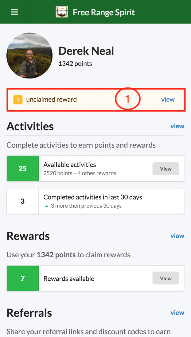 BrandChamp ambassador portal unclaimed reward notice