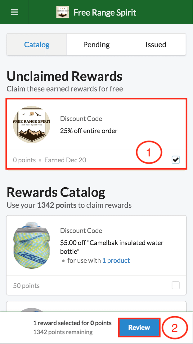 BrandChamp ambassador portal rewards catalog unclaimed reward