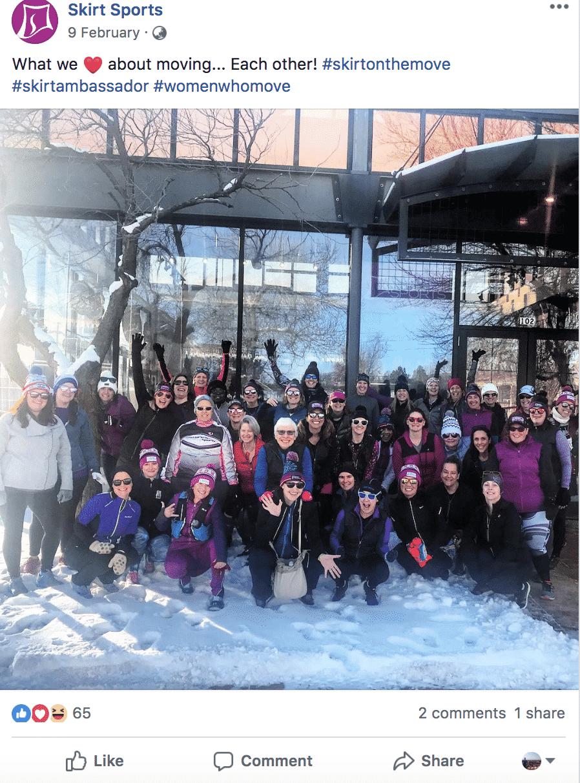 SkirtSports user generated content ambassador team snow skiing boulder