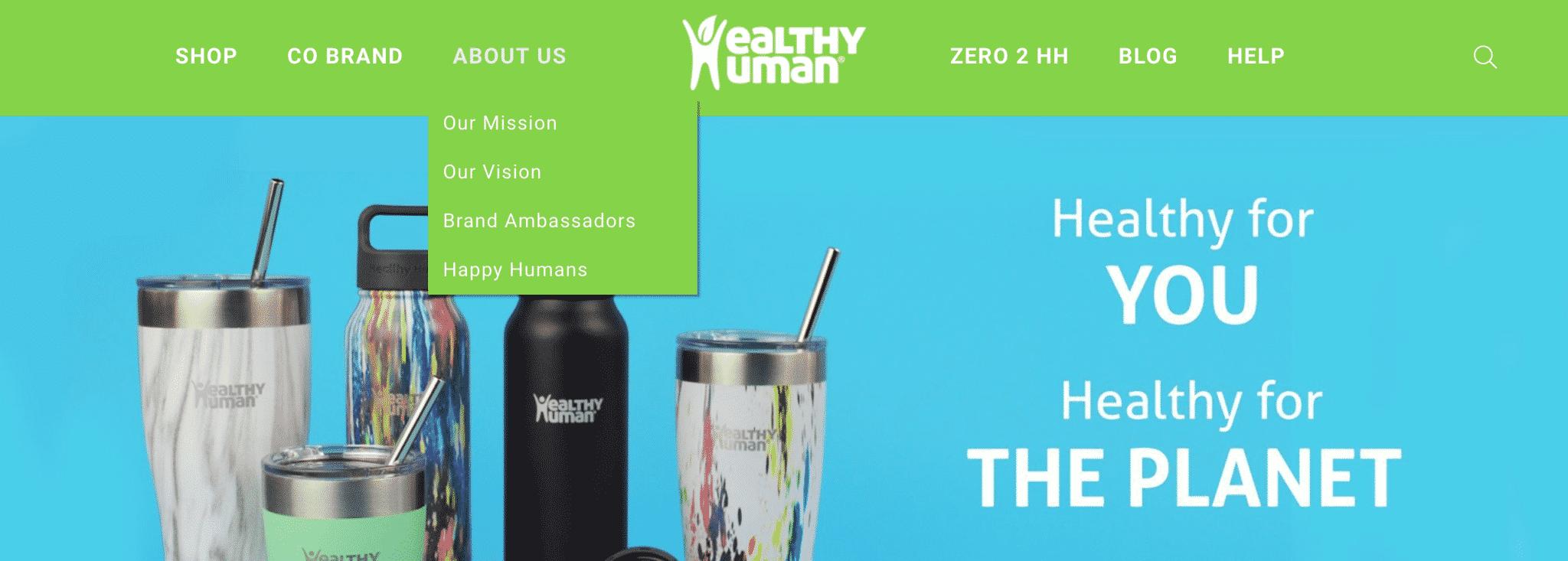Healthy Human Website