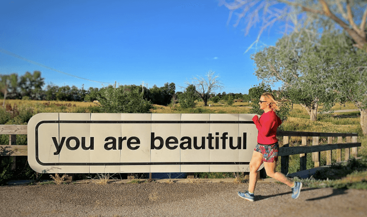 Skirt Sports ambassador jogging sign your are beautiful