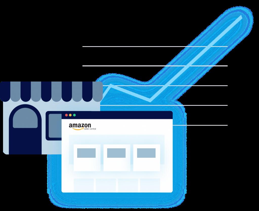 Referral sales graph store icon screen icon