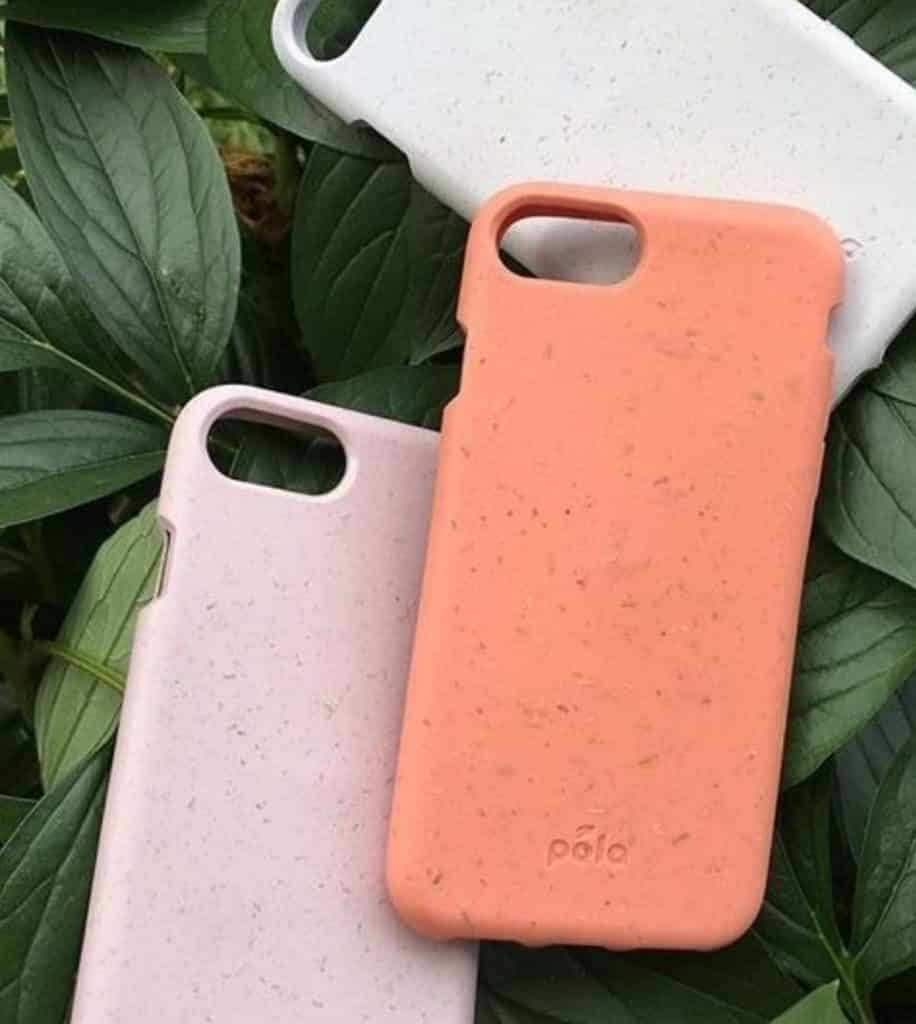 Pela Phone Cases Pink Orange White Plant Background