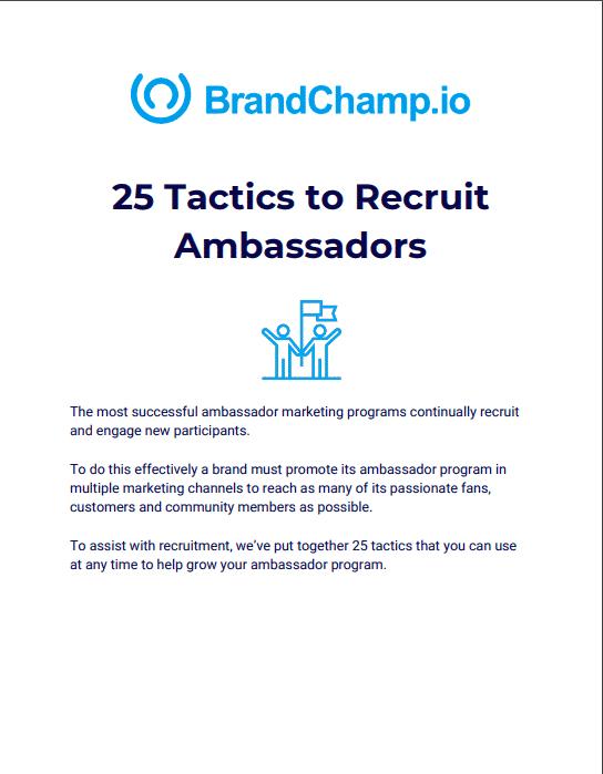 Recruiting Brand Ambassadors-eBook
